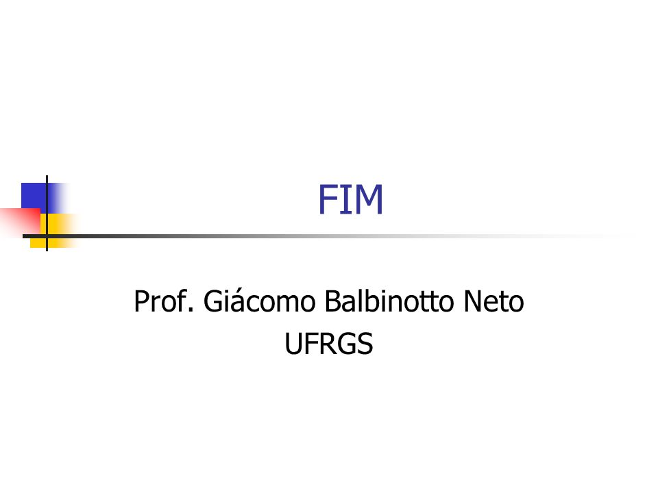 TEORIA MACROECONÔMICA II [A] Prof. Giácomo Balbinotto Neto UFRGS
